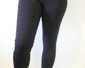 Black Jacquard Leggings
