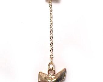 "Gold Shark Tooth 2.75"" H"