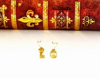 Lock and Key Earrings
