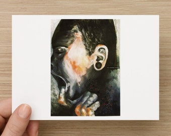 LIMITED EDITION A6 Post Card Sized Fine Art Print - 'Photocopied Face'