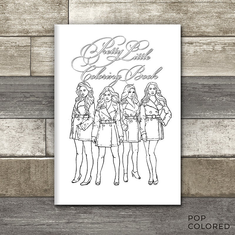 Printable pretty little liars themed coloring book 10 page for Pretty little liars coloring pages