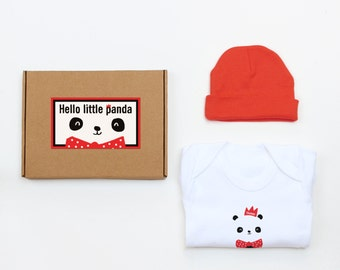 Hello Little Panda New Baby Gift Set Can Be Personalised