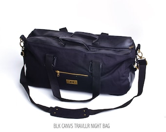 Black Canvas Traveler Night Bag