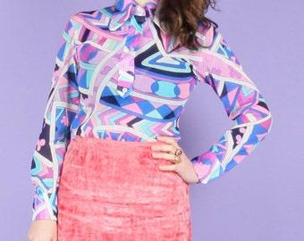 70s Vintage Pucci-esque Psychedelic Shirt