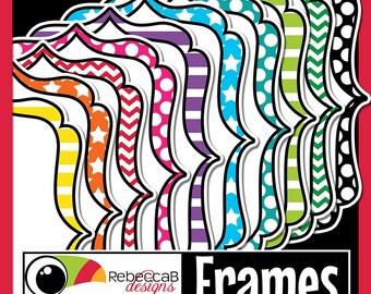 Frames Clip Art, Colored Frames, Frames, Digital Frames, Labels, Printables