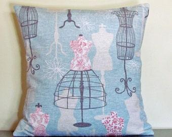 Throw Pillows, Decorative Cushions, Pillow Cover, Blue Cushion Cover, Custom Pillow Case, 16x16 Pillow, Accent Pillow, Housewarming Gift
