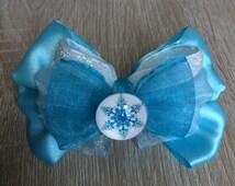 Elsa inspired Hair Bow - Frozen
