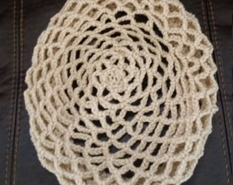 Hand crocheted snood, beret, tam