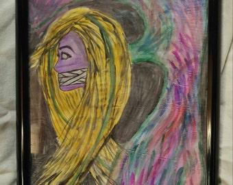 "Autism Awareness 12x18"" Watercolor"