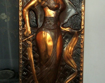 Living room decor Extra Large Copper Wall Decor Relief Wall Hanging handmade wall art piece  copper repousse  copper art relief picture