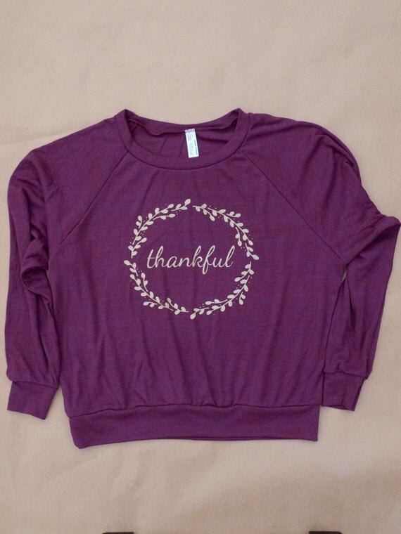 thankful women's sweatshirt