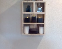 Rustic Country Chic Pallet Wood Knick Knack Hanging Shelf