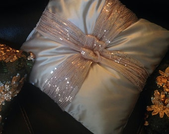 luxurious pink pillow