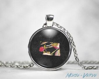 North Dakota Necklace, North Dakota Pendant Necklace, Home State Jewelry, Glass Photo Jewelry