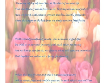 Bespoke Wedding Poem Example