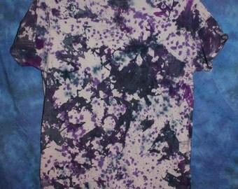 Purple and Black Tie Dye Tee Shirt
