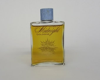 Vintage Kim Tussy Midnight Cologne Tussy Cosmetics New York One and a Half Ounces Ninety Five percent Full