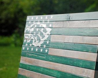 Patriotic / American Flag / US Flag / Philadelphia Eagles /  Wood Flag  / Wood American Flag / Wooden Flag/ Rustic Flag / USA / Rustic Decor