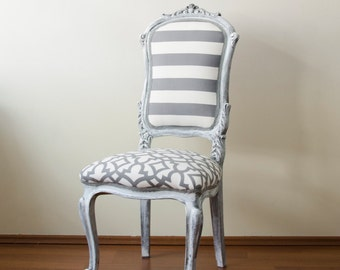 Grey Antique French Louis XVI Chairs