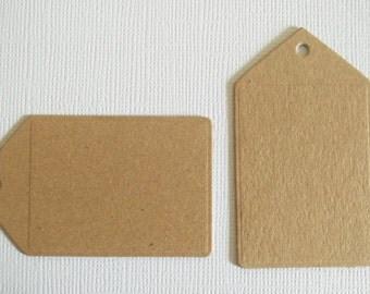 Plain Brown Kraft Gift Tags (x20)