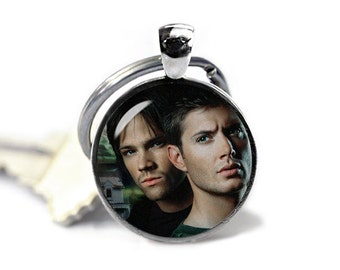 Supernatural Key Ring Keychain Supernatural Keyfob Dean and Sam Winchester Geeky Fangirl Fanboy