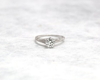 Diamond Ring | Platinum Ring | Platinum Diamond Ring | Engagement Ring | Antique Jewelry | Antique Jewellery | Antique Engagement Ring