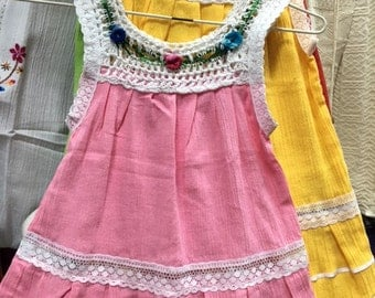 baby girl hippie boho dress