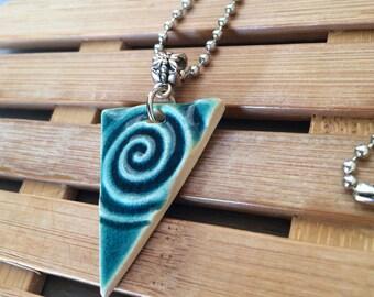 Handmade Ceramic Triangle Necklace