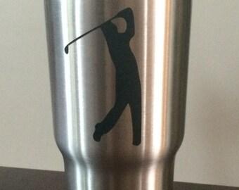 Golfer YETI Cup Decal,Golfer YETI Cup Monogram,Golfer YETI Cup Sticker, Golfer Pro, Pro Golfer