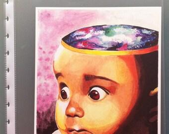 Deep Thoughts, original watercolor PRINT