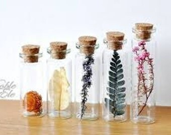 Flowers In A Tiny Glass Jar