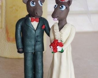 Custom Moose Cake Topper Wedding