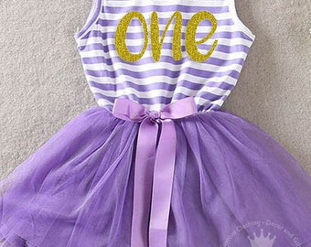 First Birthday Outfit Girl, Purple Tutu Dress