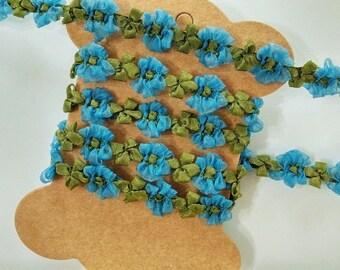 3 Yards Flower Floral Trim | Bridal Headband | Flower Girl Headband | Hair Accessory | Wedding | Party | DIY Projects | Craft Supplies