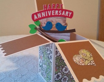 Happy Anniversary Pop Up Card