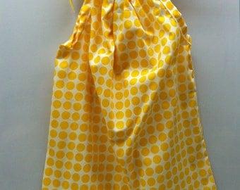 Yellow Candy Dot Dress
