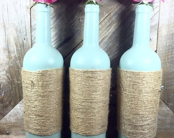Twined Wine Bottles - Set of 3