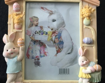 Easter Bunny with Eggs Picture Frame