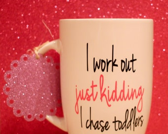 I work out latte mug