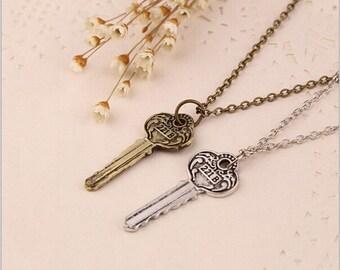 Sherlock Holmes 221B Key Necklace