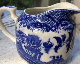 Blue Willow cream pitcher
