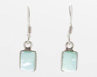 Apatite Earrings - Silver Earrings - Dangle & Drop Earrings - Gemstone Earrings - Apatite Silver Earrings - Handmade Earrings