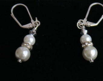Glass Pearl Earings