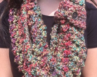 Multicolored Crochèt Infinity Scarf