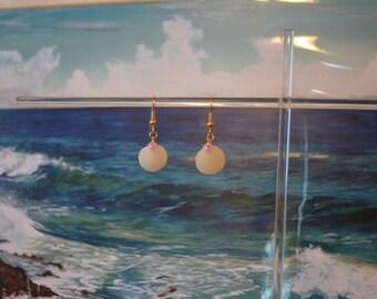 Cayman Islands shell and bead earrings