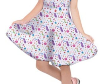 Kids Candy Dress Kids Dress Candies Sweets All Over Print Dress Colorful  *****MTO, Month******