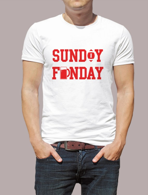 Sunday Funday Football Shirt S-4XL And Long Sleeve Available American Football 2016