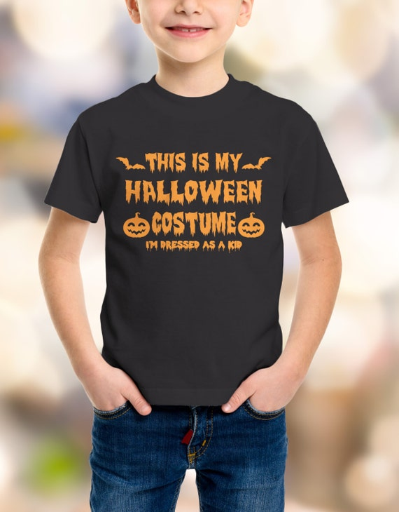 """Halloween """"This is my Halloween Costume, I'm Dressed as a Kid"""" Youth T-Shirt XS-XL Available"""