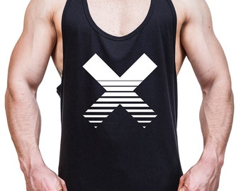Men Stringer tank top cross