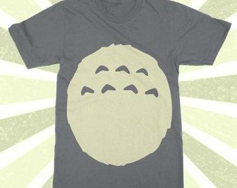 Studio Ghibli Totoro Shirt - TOTORO Costume t-shirt - Kawaii - Spirited Away - Miyazaki - Halloween - Cosplay - S/M/L/XL/2X/3X/4X - Belly